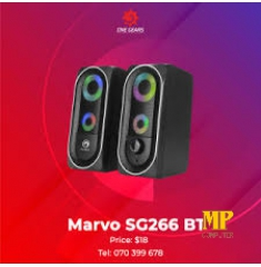 Loa Marvo SG266 led (2C/bộ) đen (bluetooth)